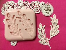 Small leaves lace silicone mold fondant cake decorating cupcake food soap FDA