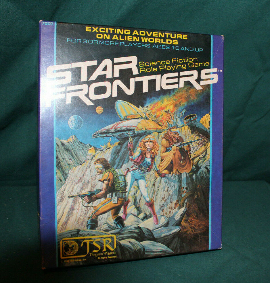 STAR FRONTIERS ROLE PLAYING GAME UNPUNCHED & UNUSED