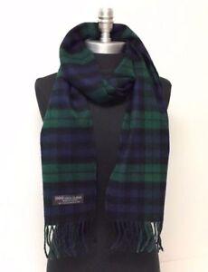 4c832e5dc NEW Men's 100% CASHMERE SCARF Scotland Soft Wool Wrap Plaid Green ...