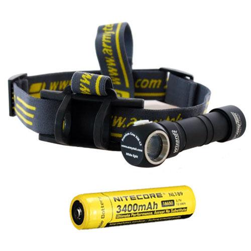 Armytek Wizard Pro V2. XM-L2 Headlamp w  NL189 Rechargeable Battery