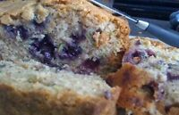 Zucchini Blueberry Bread, Three Loaves Handmade Moist Zucchini Blueberry Bread