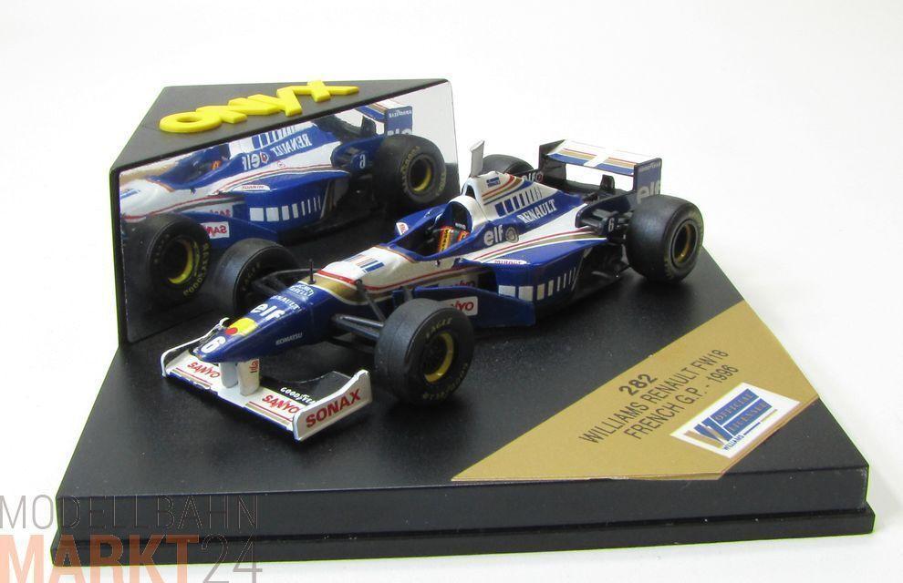 Onyx 282 williams renault fw18 de 1996 en bleu modèle à l'échelle 1 43 - OVP