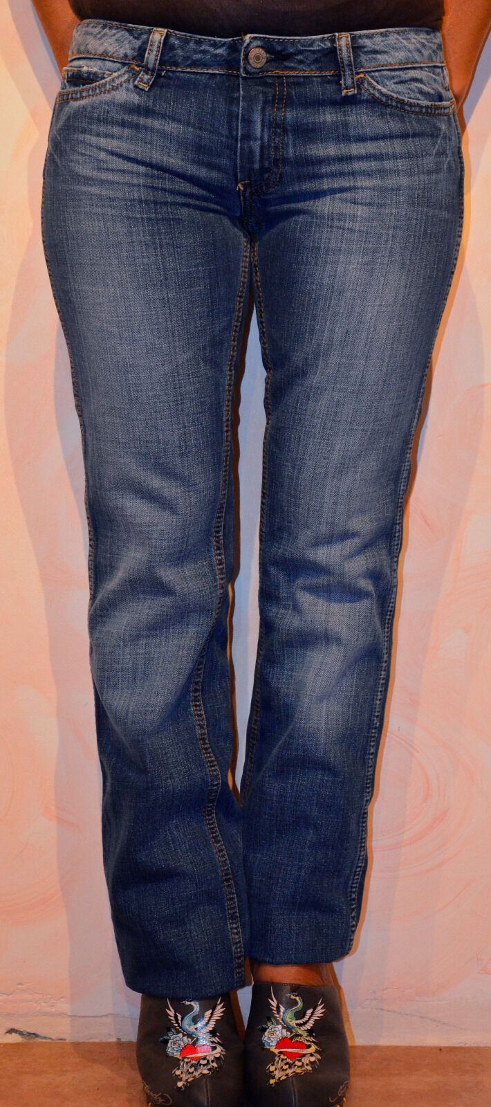 Jeans woman le TEMPS DES CERISES model J102 SIZE W24 (34) NEW value