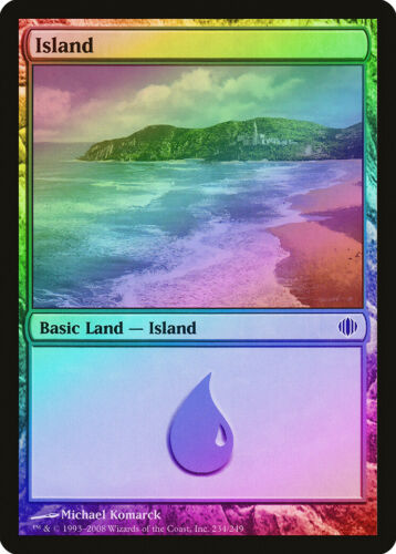 FOIL Shards of Alara NM-M Basic Land MAGIC GATHERING CARD ABUGames 234 Island
