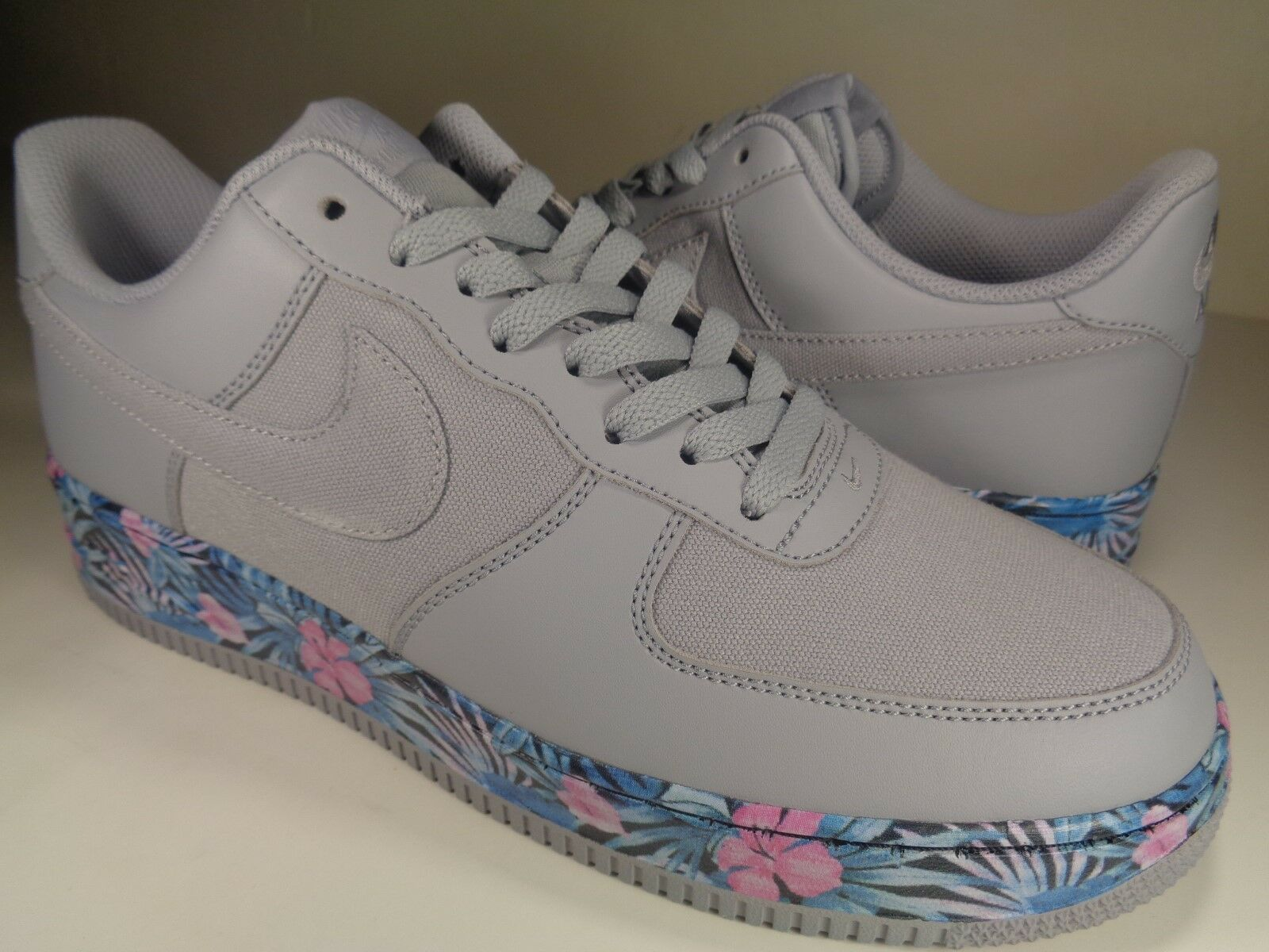 Nike Air Force 1 Low Low Low Aloha Flowers Grey Blue Extremely Rare SZ 9 (820266-005) 6c373c