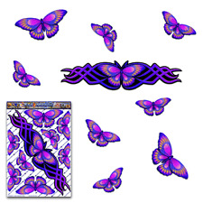 Butterfly Animal Car Sticker Purple Vinyl Decal Pack St021pl3 Australia Made