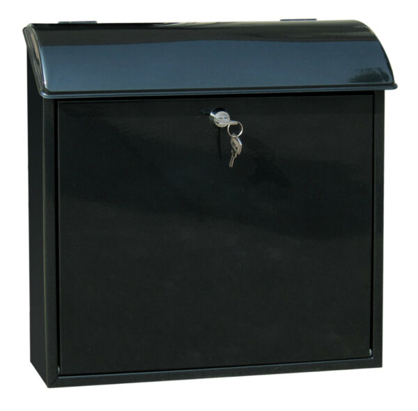 Wall Mounted Letter Mail Post Box Galvanized Steel Key Lockable Newspaper Holder