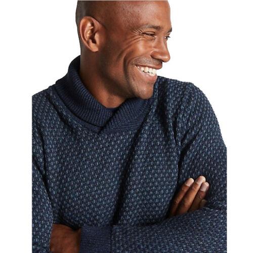 Marks /& Spencer Da Uomo con Trama collo sciallato Maglione Nuovo M/&S Maglione Pullover Top