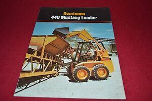 Owatonna 440 Mustang Skid Steer Loader Dealers Brochure