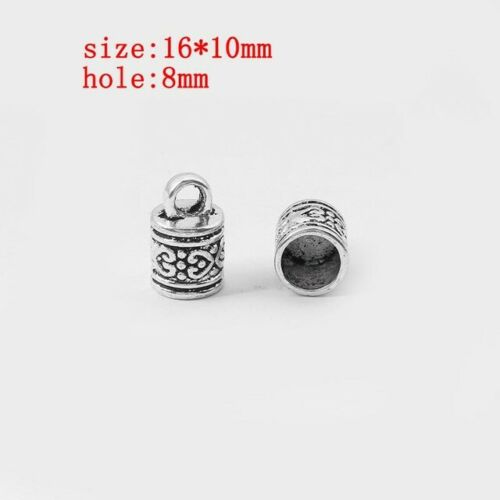 10x Plata Tibetana//casquillos de bronce final Cuentas Tapón Hazlo tú mismo los resultados de la fabricación de joyas