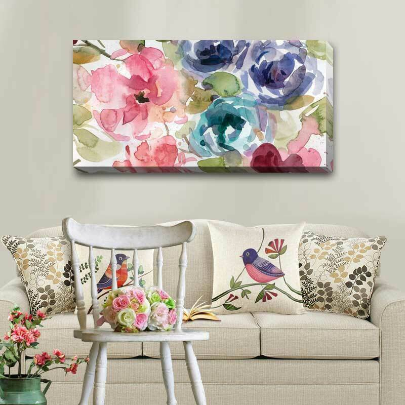 Macro Garden Stretched Canvas Print Framed Wall Art Home Office Shop Decor F109