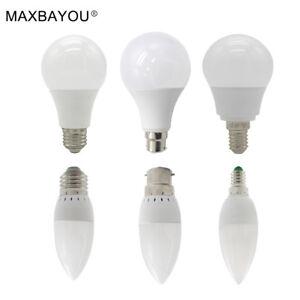 B22-E14-E27-LED-Globe-Bulb-Candle-Lamp-Light-Cool-Warm-White-3W-5W-7W-9W-12W