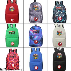 Game Roblox Backpack canvas student Schoolbag Zip Travel Laptop Bag shoulder bag
