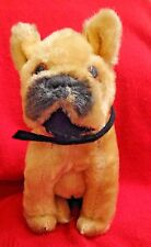 VINTAGE 1960's MOHAIR EXCELSIOR STUFFED BOXER DOG TOY - MADE IN JAPAN