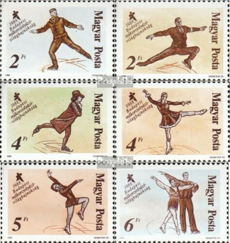 Hungary 3946A3951A mint never hinged mnh 1988 Figure SkatingWM