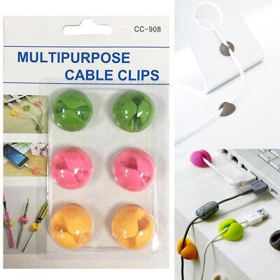 Cavo Multiuso Titolare Clip Filo Cavo Di Tabella Desktop Organizer Clip Di Fissaggio Usb-