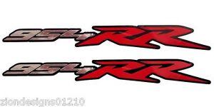 954RR-Motorrad-Aufkleber-Grafik-Sticker-Chrom-und-Rot-auf-Schwarz
