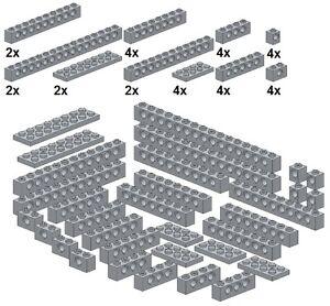 Lego-Technic-Bricks-M04-Technic-Lochsteine-Neues-Hellgrau