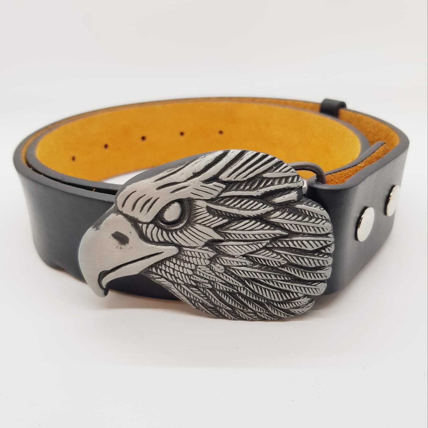 Golden Eagle Biker Buckle & Belt American Country Western celtic gothic Rodeo