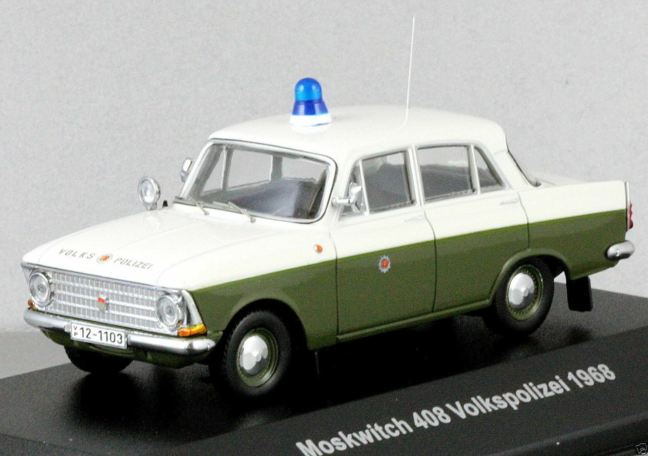 Cars & Co 1968 Moskvitch 408 German Police Volkspolizei 1 43 Moskwitch Moskvich