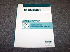 1996 1997 1998 Suzuki Swift Hatchback Original Wiring Diagram Manual 1.3L