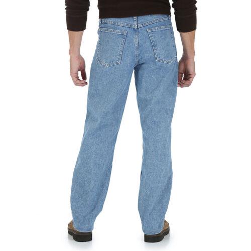 NEW Men/'s Wrangler Premium Denim Five Star Relaxed Fit Straight Leg Jeans All Sz