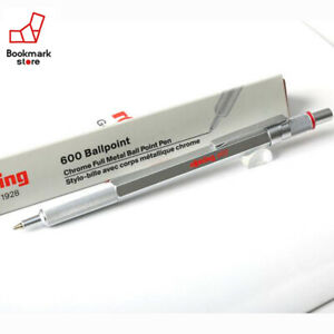 NEW-034-rOtring-600-Ballpoint-Pen-Silver-Metal-body-For-Professional-from-Japan-F-S
