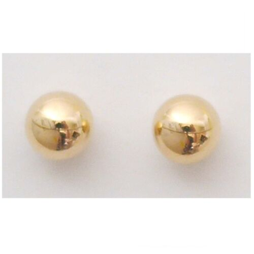 14K Solid Yellow Gold Ball Stud Earring. 4-8 mm New EB833