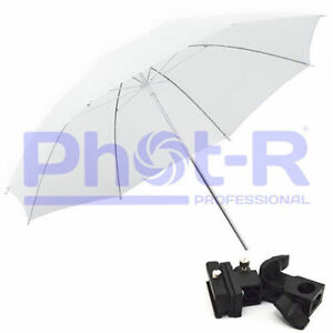 Phot-R-33-034-White-Studio-Umbrella-Swivel-Hotshoe-Flash-Light-Stand-Holder-Bracket