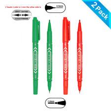 2 Pack Cd Dvd Permanent Marker Pens Dual Tip Waterproof Green Red Pen
