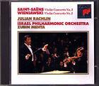 Julian RACHLIN & Zubin MEHTA: SAINT-SAENS WIENIAWSKI Violin Concerto No.3 & 2 CD