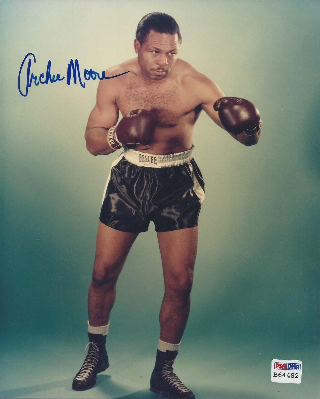 Archie Moore Signed 8x10 photo PSA/DNA # B64482