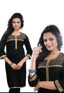 UK-STOCK-Women-Fashion-Indian-Short-Kurti-Tunic-Kurta-Top-Shirt-Dress-ECCO17A