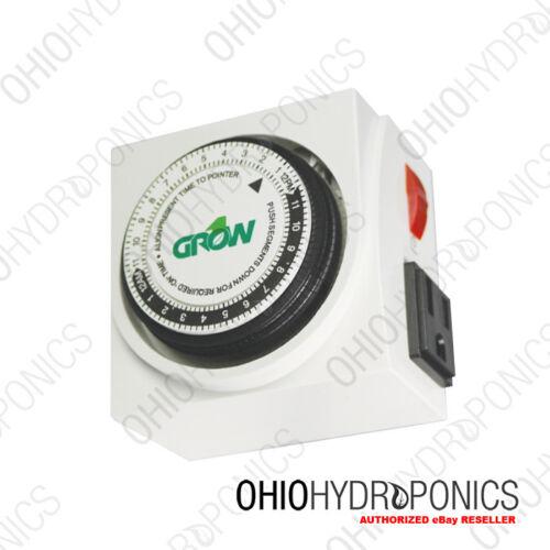 Timer 120V Dual Outlet Mechanical Timer indoor garden lighting controller
