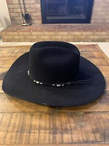 Slightly-used-gorgeous-5X-Beaver-Quality-Rodeo-King-Cowboy-Hat-4-034-Brim