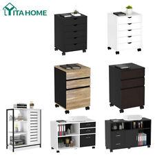 Yitahome Wood Filing Cabinet File Storage Organizer Rolling Drawer Lock Office