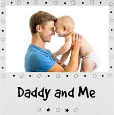 """New Daddy and Me Picture Frame Silver Dad Baby Son Daughter Father 6x4"""" Photo"""