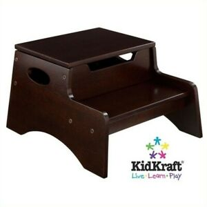 Incredible Details About Kidkraft Step N Store Step Stool In Espresso Cjindustries Chair Design For Home Cjindustriesco