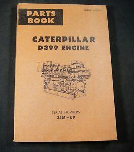caterpillar d399 diesel engine parts manual book s n 35b1 up cat rh ebay co uk Cat D399 Rail cat d399 engine manual