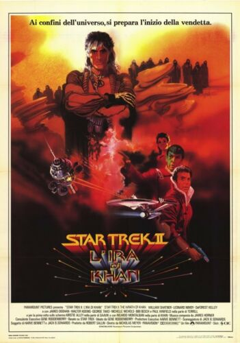 STAR TREK 2 THE WRATH OF KHAN Movie POSTER 11x17 Italian Leonard Nemoy