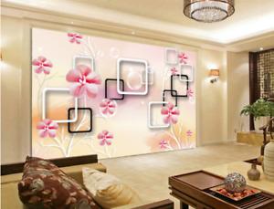 3D Schöne bluemen Rahmen 96 Tapete Wandgemälde Tapete Tapeten Bild Familie DE