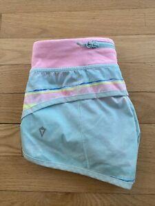 Lululemon-Ivivva-Girls-Size-8-Striped-Run-Speed-Shorts