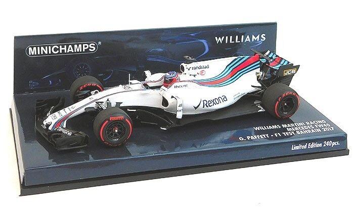 1 43 Minichamps Williams FW40 2017 Bahrain F1 GP Test Gary Paffett P417170041