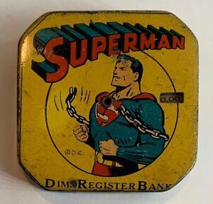 Vintage-1940-SUPERMAN-Dime-Register-Bank