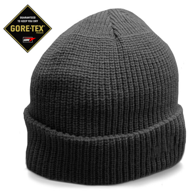 4320b9e5 Gore-Tex Lined Waterproof Military Police Hiking Army Watch Cap Beanie Hat  Black