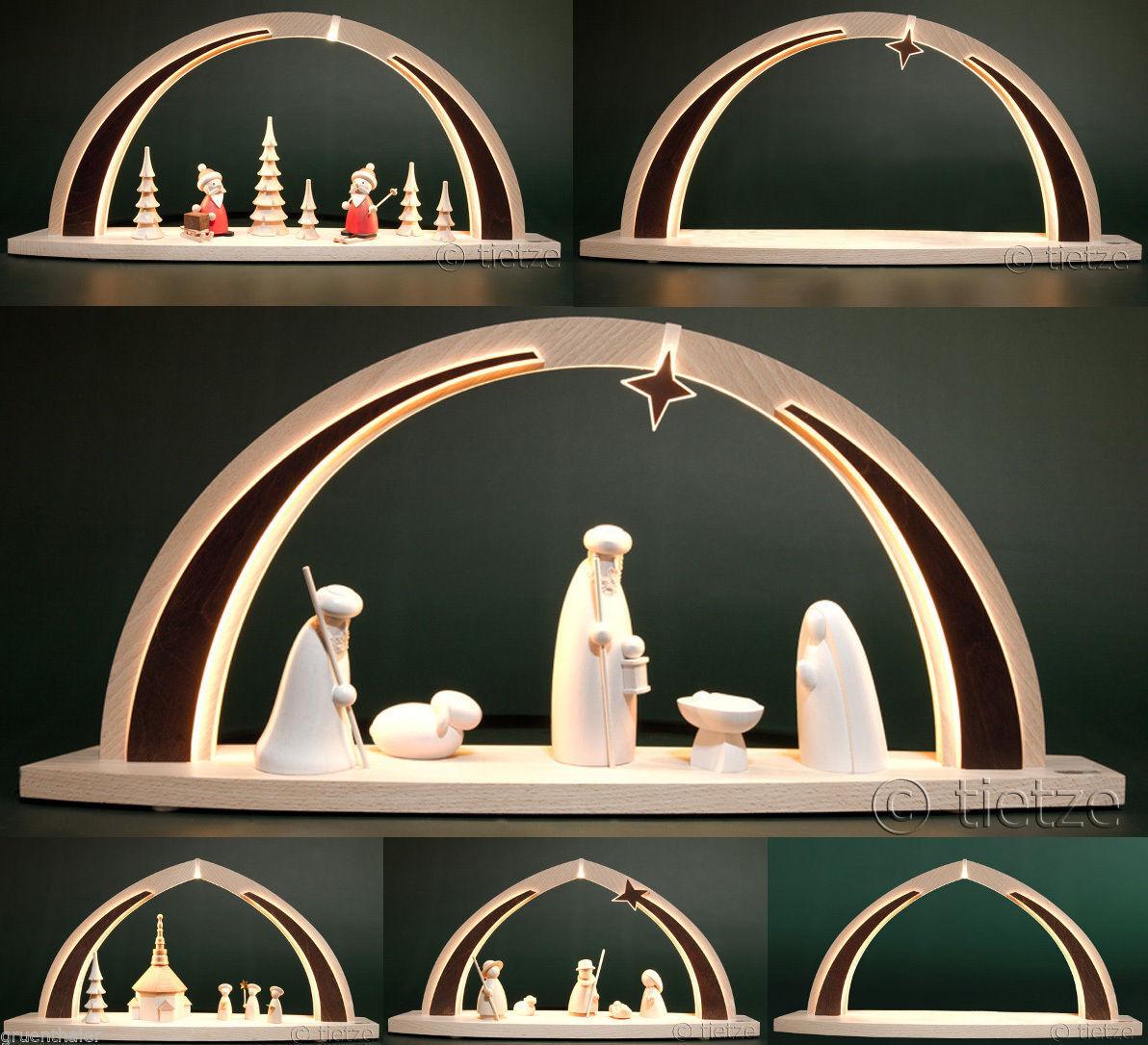 DEL-Schwibbogen Modern Wood Tietze 6x sélection les Monts Métallifères Lumières Arc NEUF