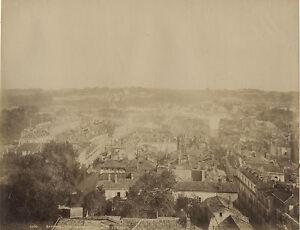 Panorama-Di-Bayonne-Foto-Albumina-Vintage-Albume-D-039-Uovo-Ca-1880