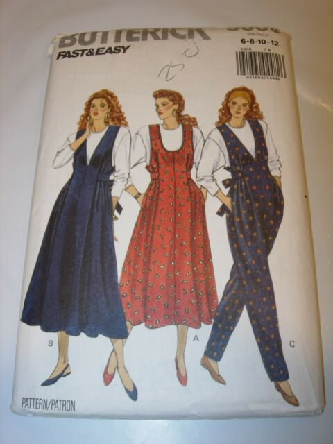 f81d64a7cd3 WOMENS UNCUT BUTTERICK 5000 Sewing Pattern MATERNITY JUMPER PANTSUIT SIZE  6-12