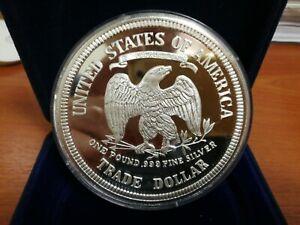 US Trade Dollar SILVER. 999 One Pound (12oz) Proof Bu