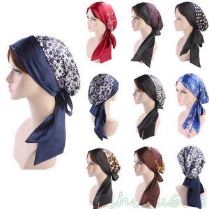 Satin-Womens-Hijab-Chemo-Hat-Turban-Head-Scarves-Pre-Tied-Headwear-Bandana-Band